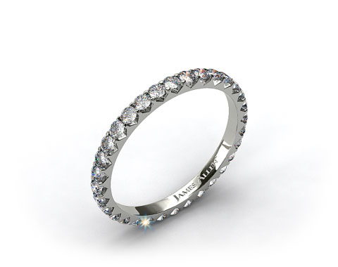 Ladies 0.75ctw* Angled Common Prong Diamond Eternity Ring